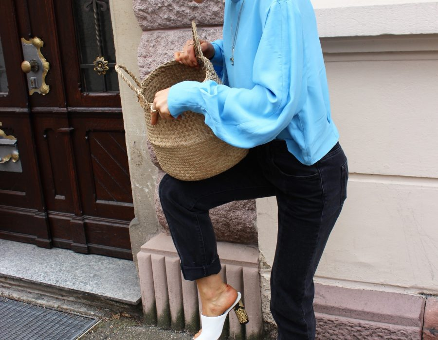 Céline nappa whiet mules