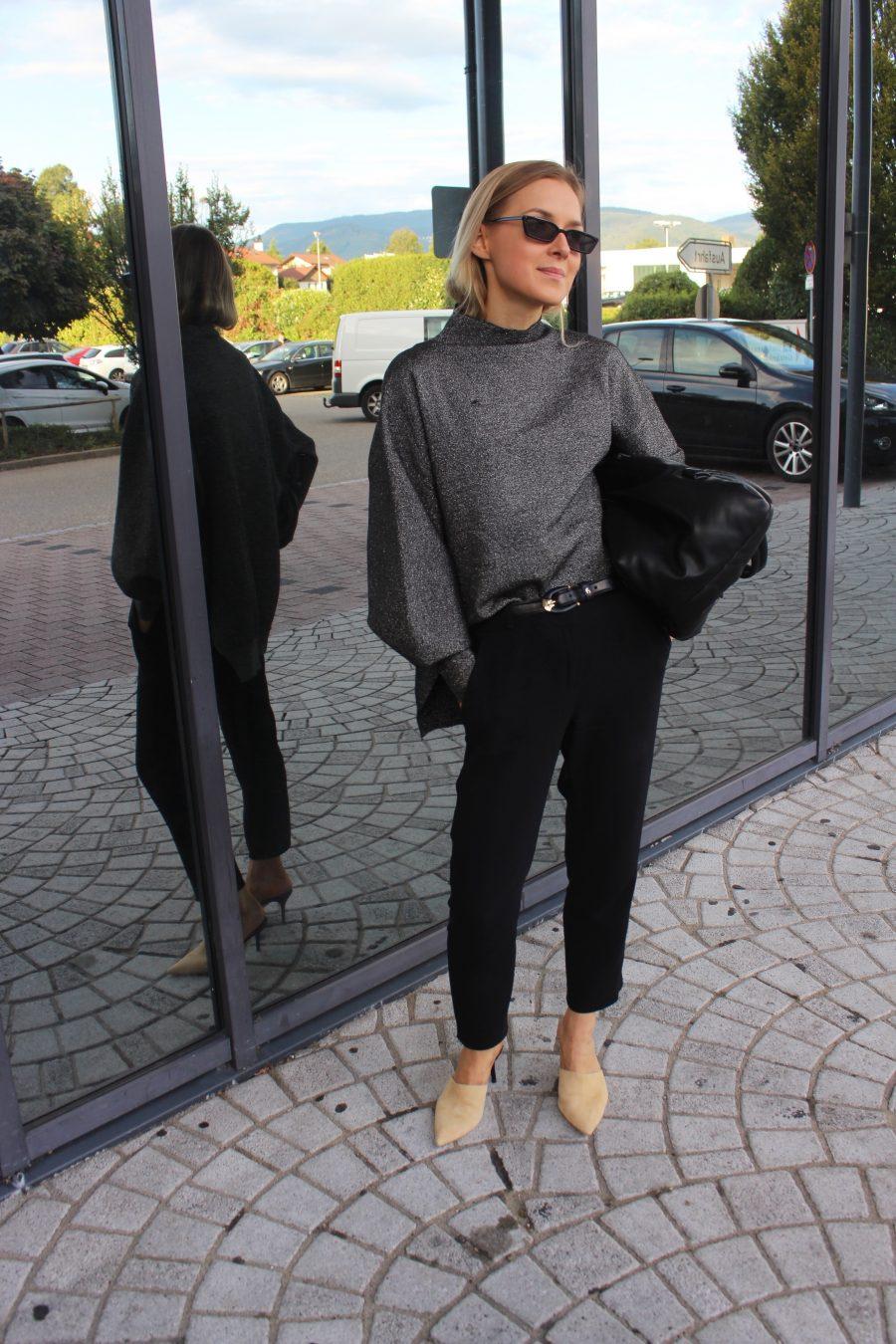 weiter Pullover glitter H&M