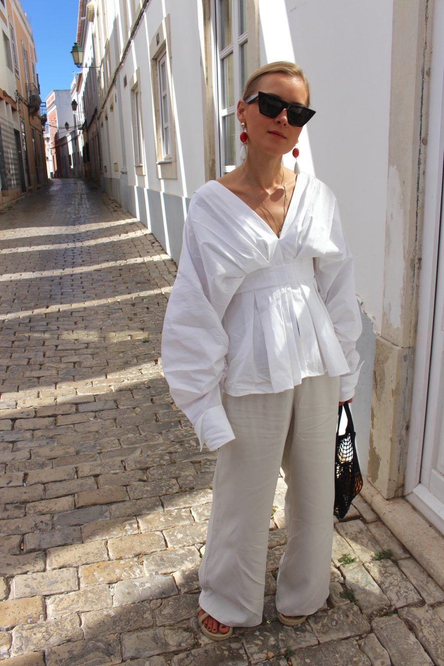 weiße bluse H&M jacquemus