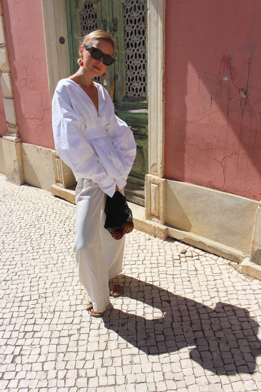 white shirt like jacquemus