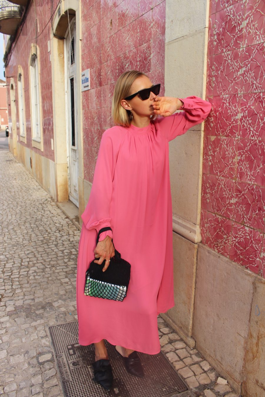 pink dress H&M trend Balenciaga