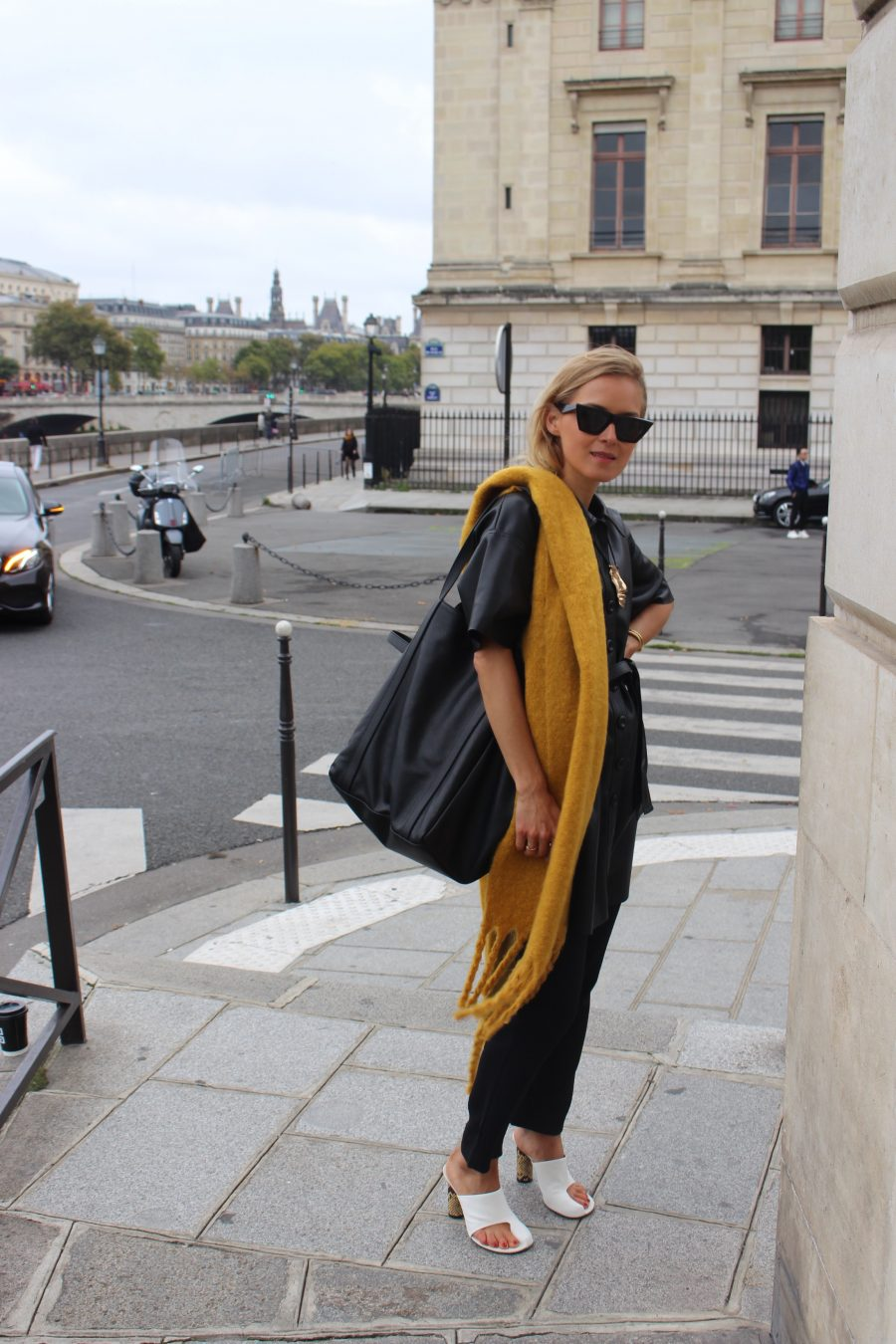 mango scarf yellow 2017