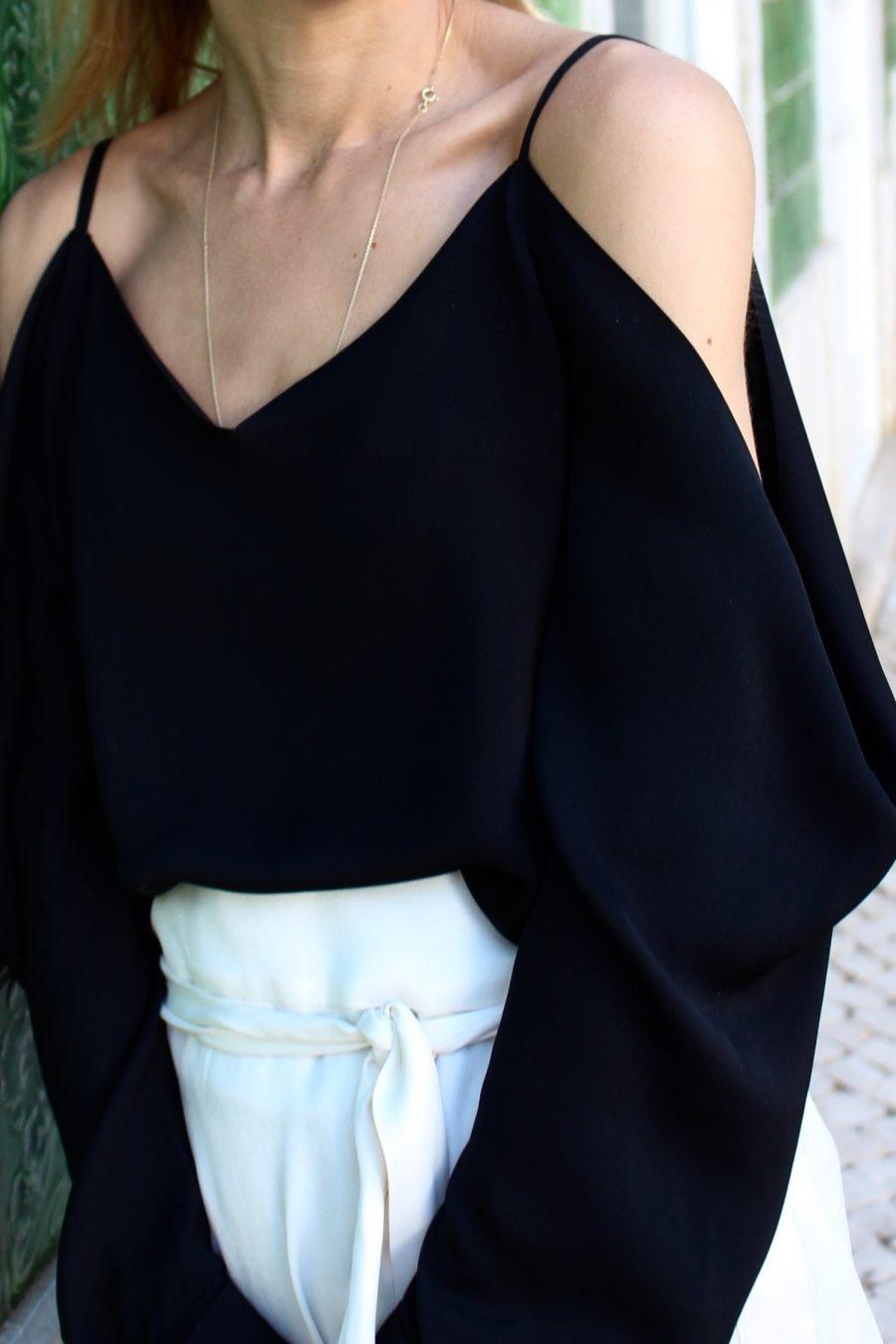 H&M Trend bluse schwarz