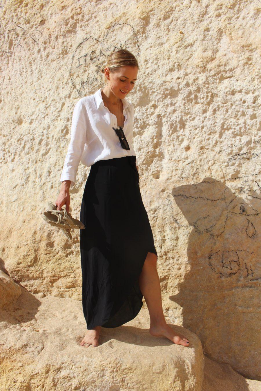 zara white bluse