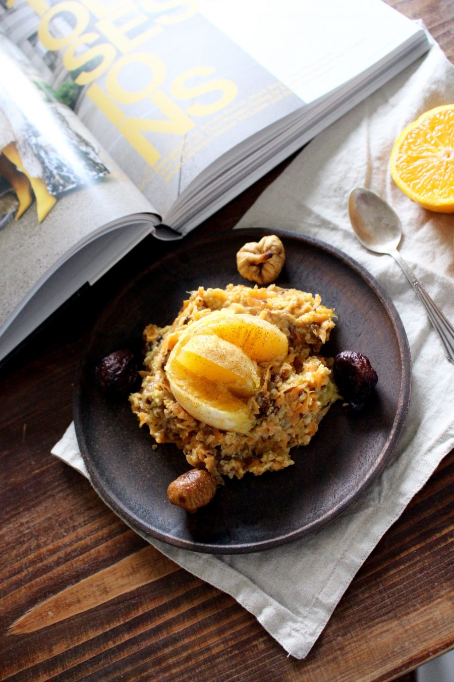 Karotten & Orangen Porridge healthy Breakfast