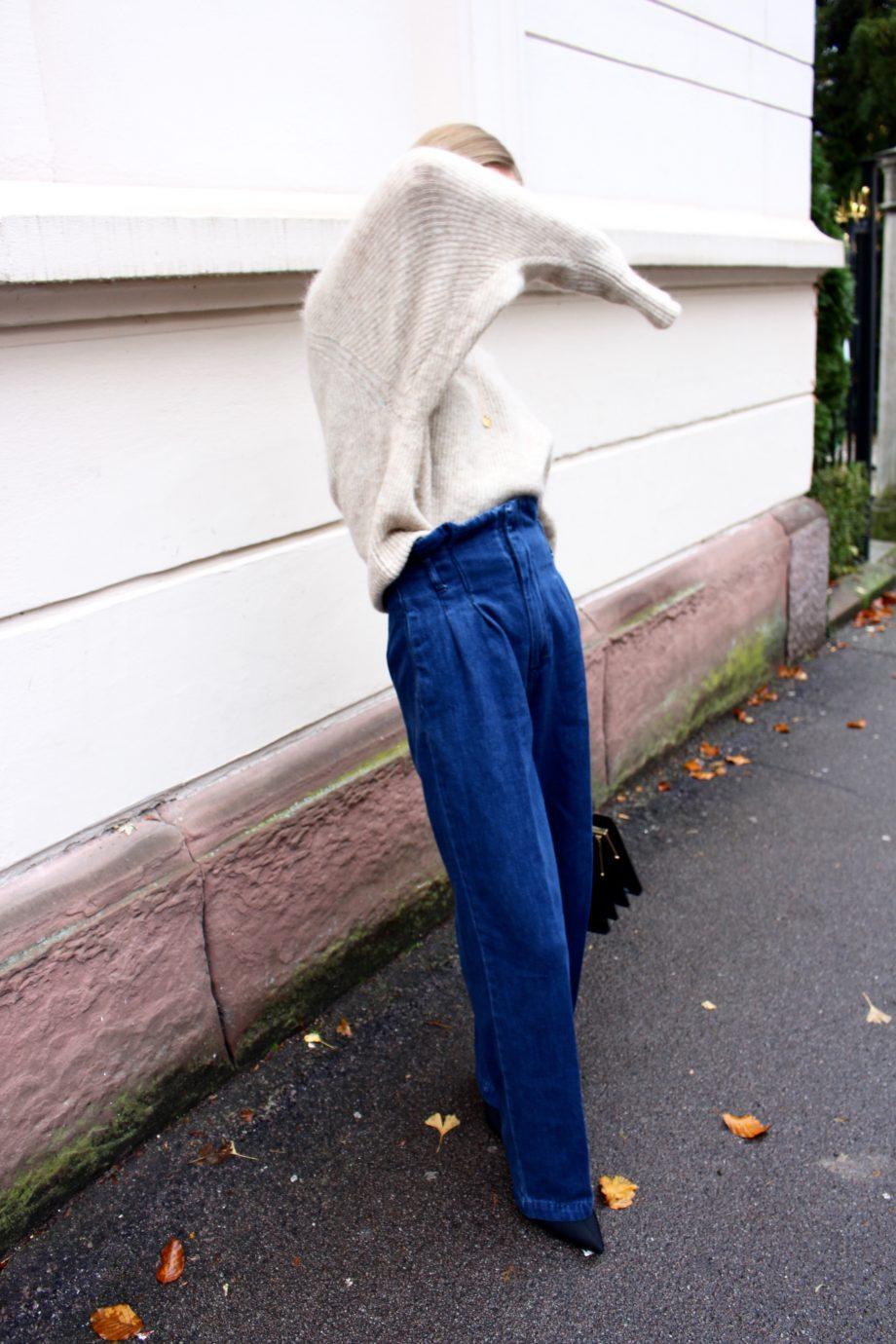 Blue Paperbag-Jeans |10.11.2017
