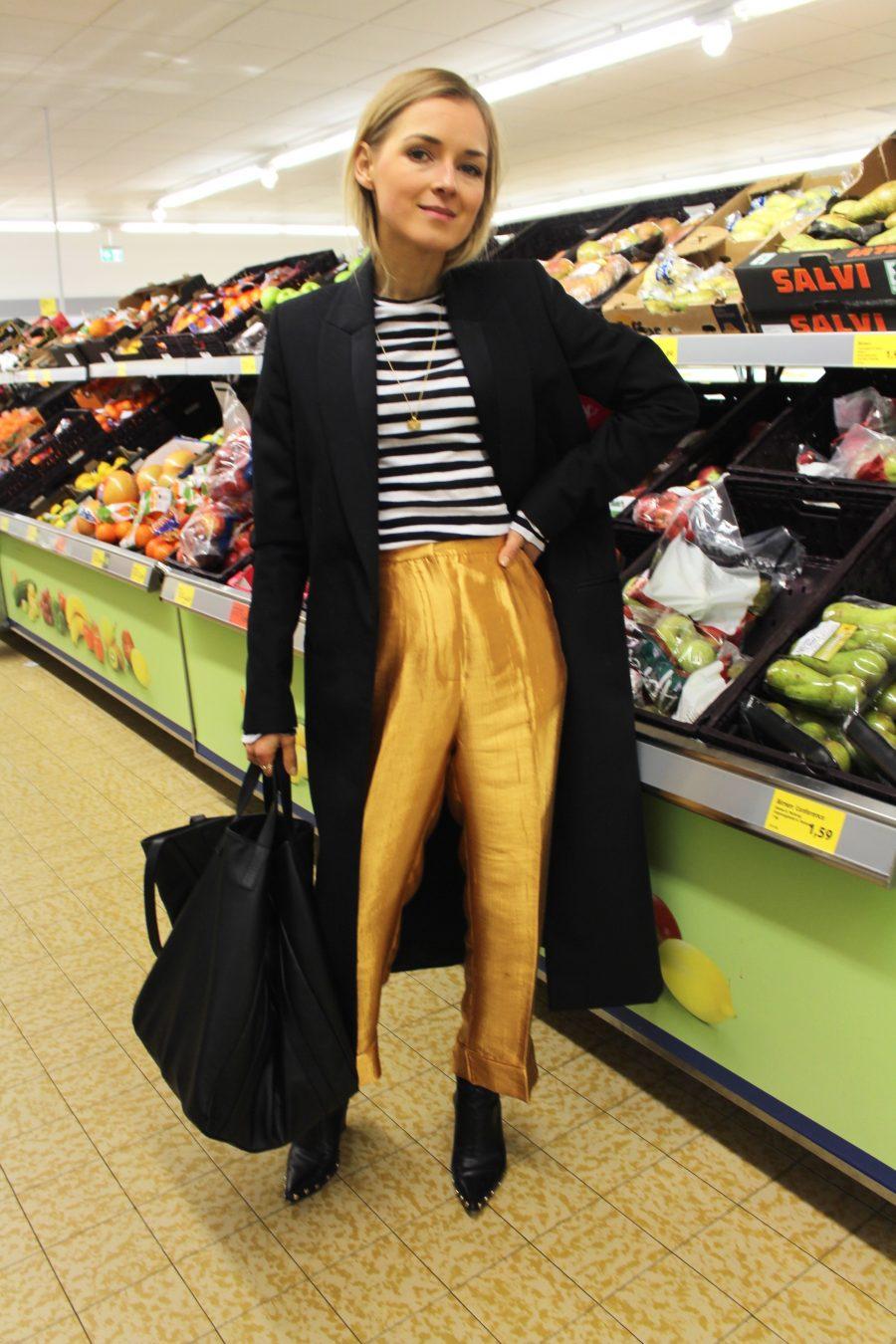 The Gold Suit Pants H&M Trend