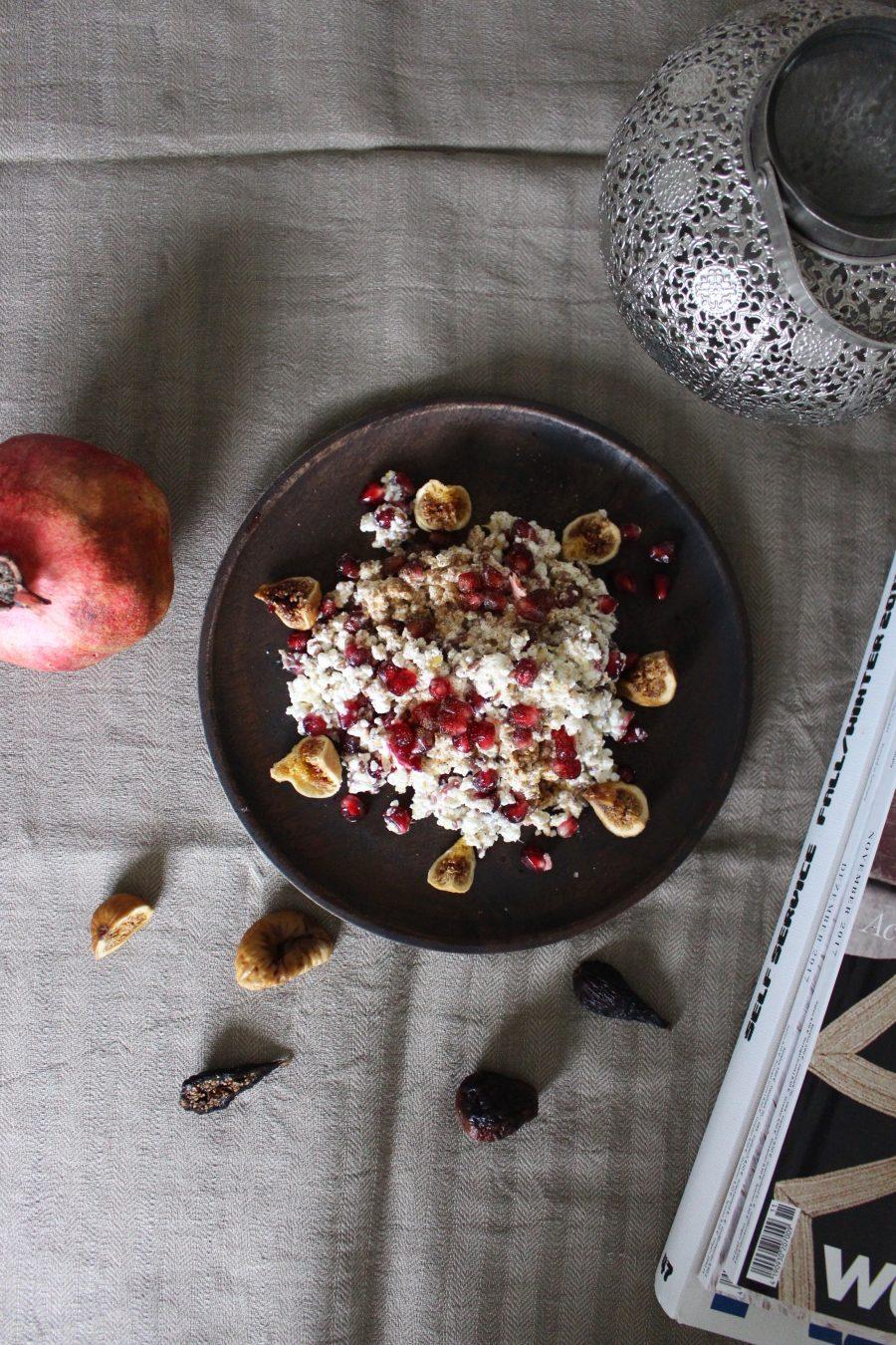 Körniger Quark mit Granatapfel & Feigen