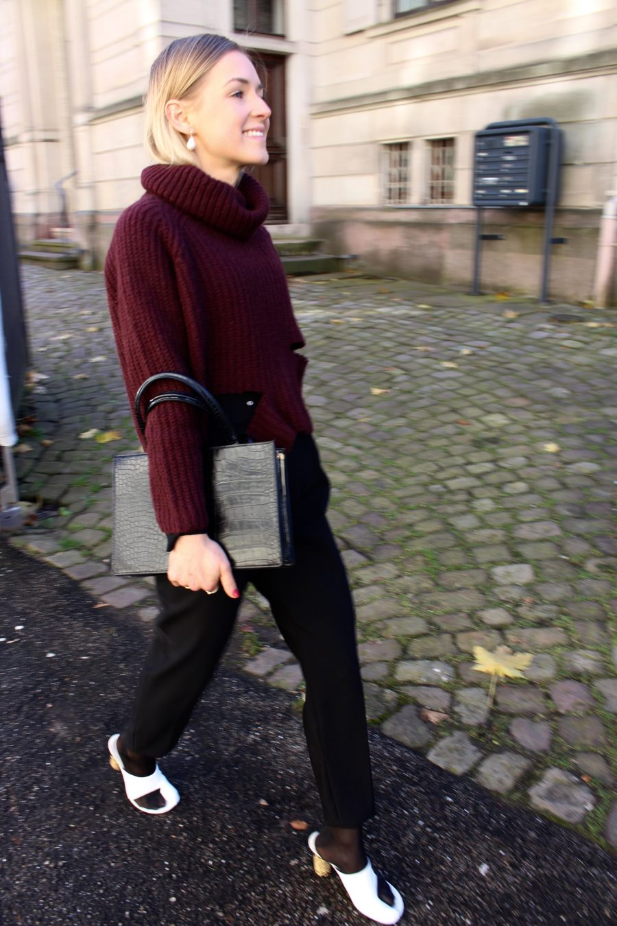 Black pants zara high waist