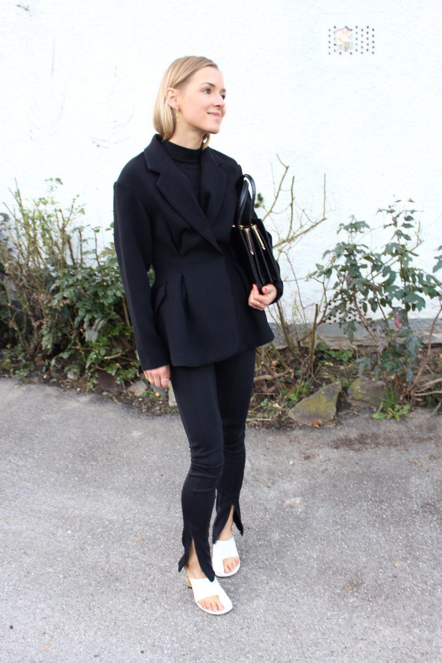 blazer H&M trend schwarz