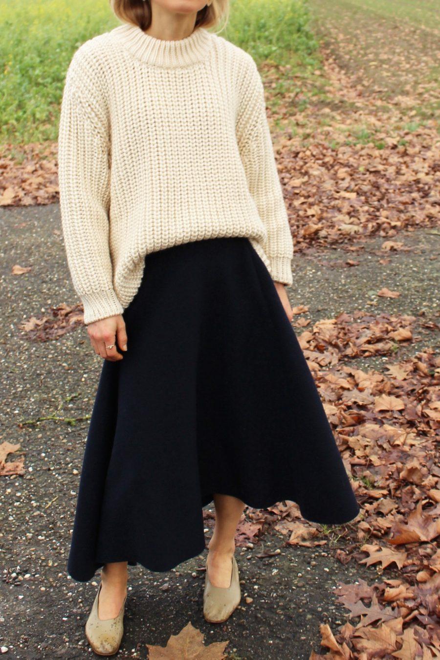 mango navyblue skirt premium