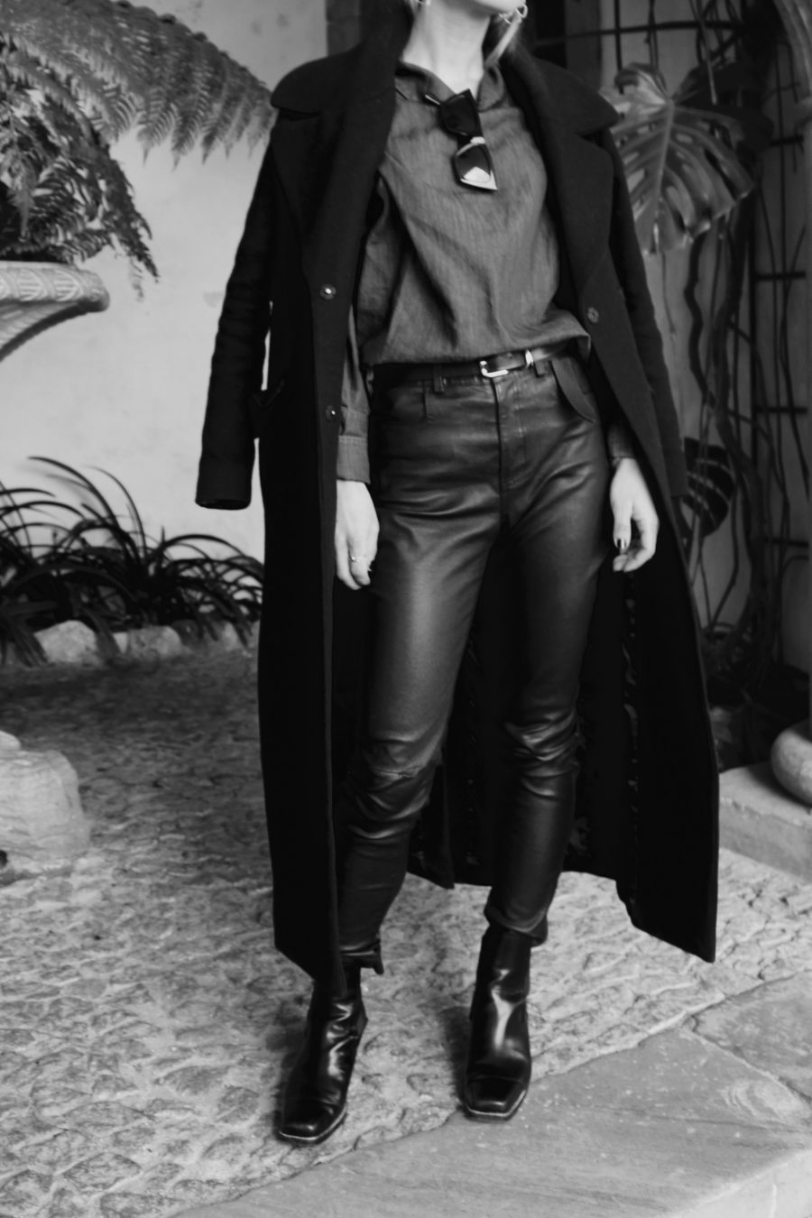 leather pants winter 2017 blogger style mango