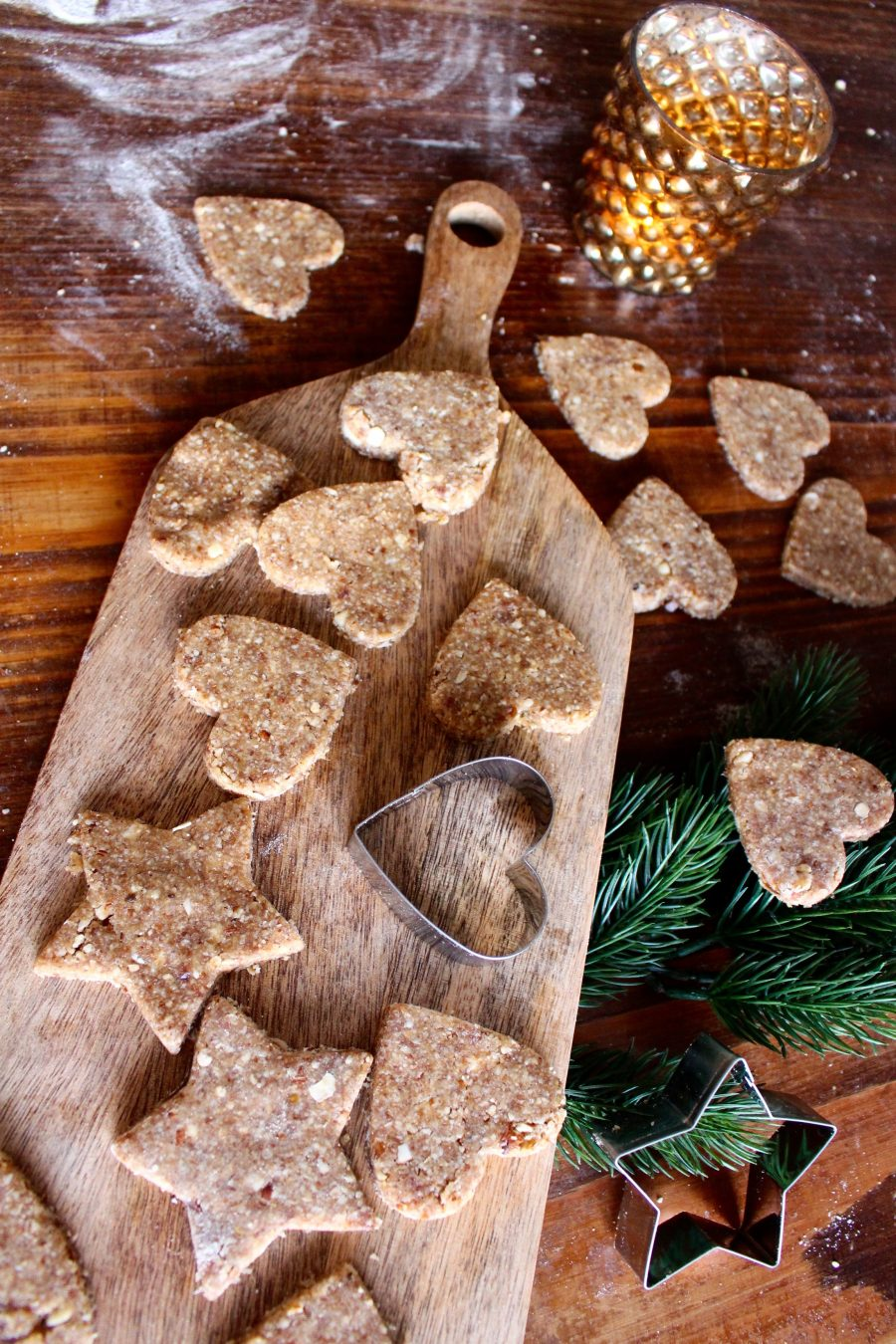 healthy X-Mas Cookies gesunde weihnachtsplätzchen