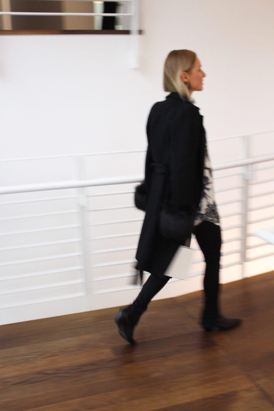 black coat zara new collection