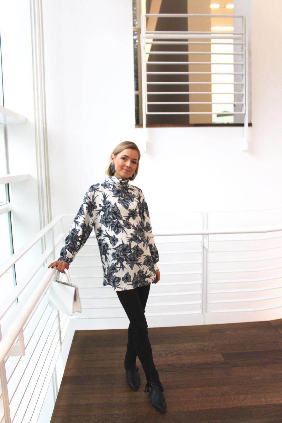Floral Shirt zara céline style