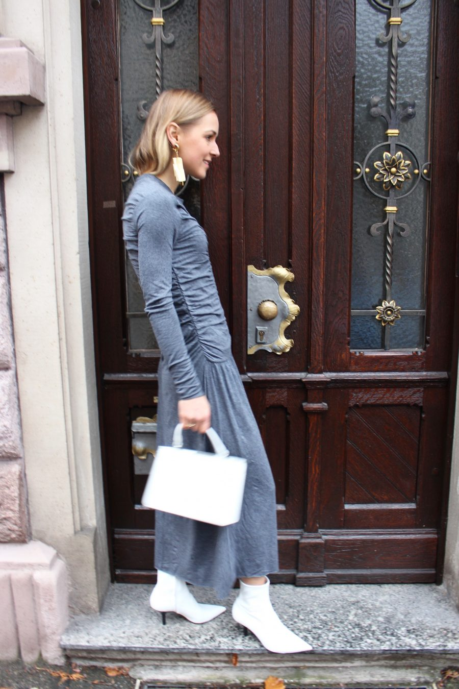 dress grey maxi