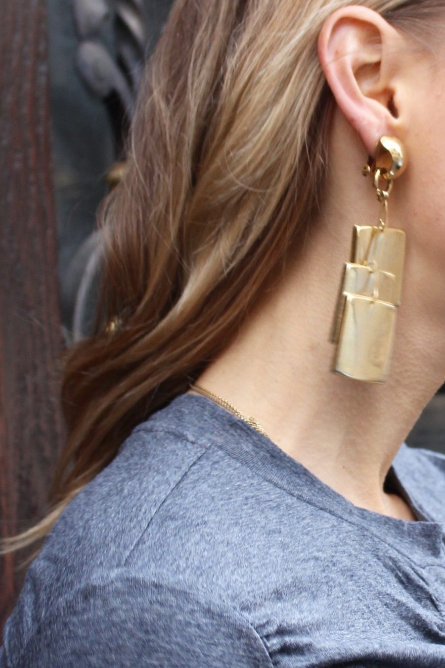 vintage gold earrings statement