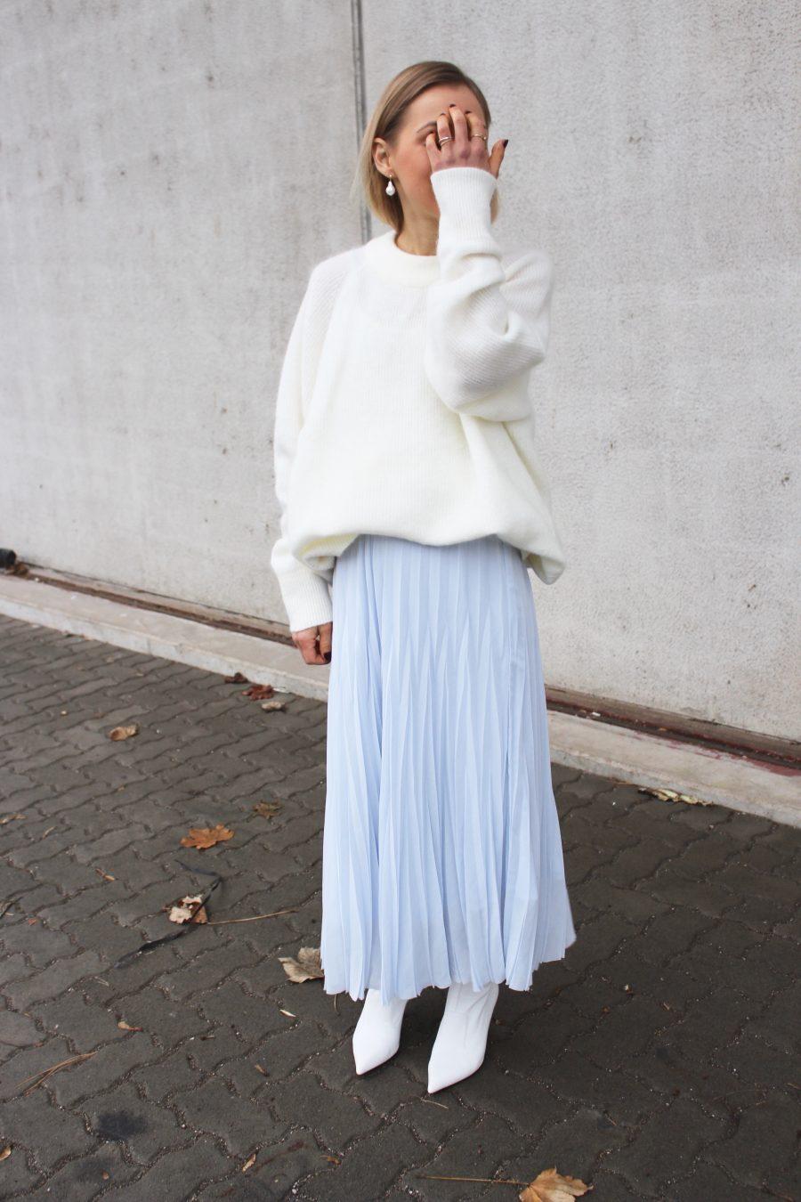 light blue skirt H&M Trend