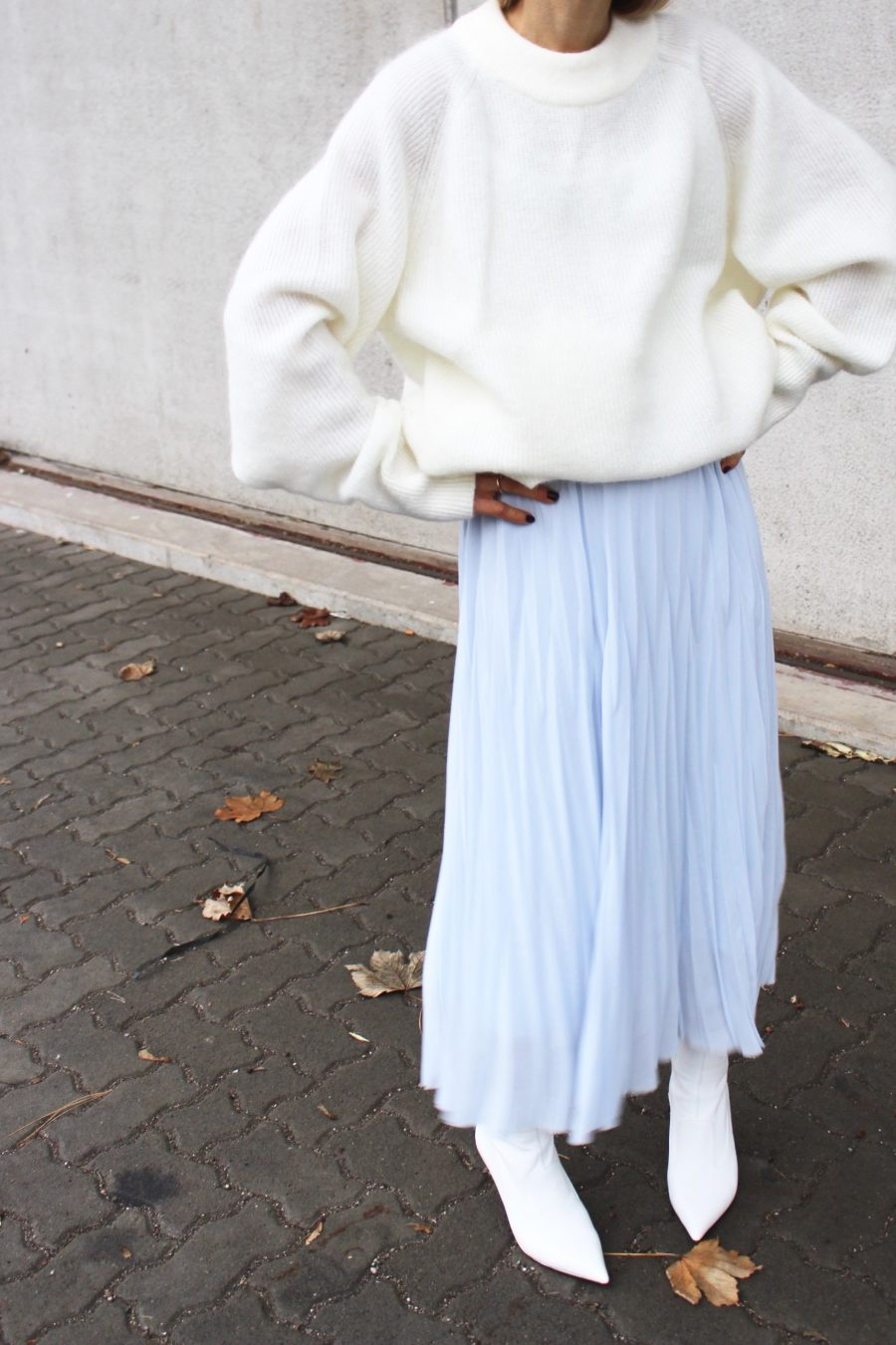 light blue skirt H&M Trend