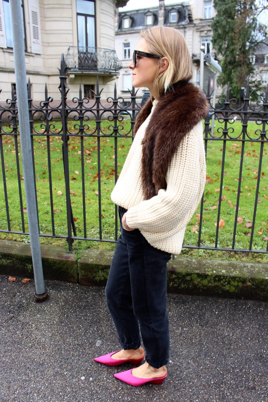 fake fur scarf zara