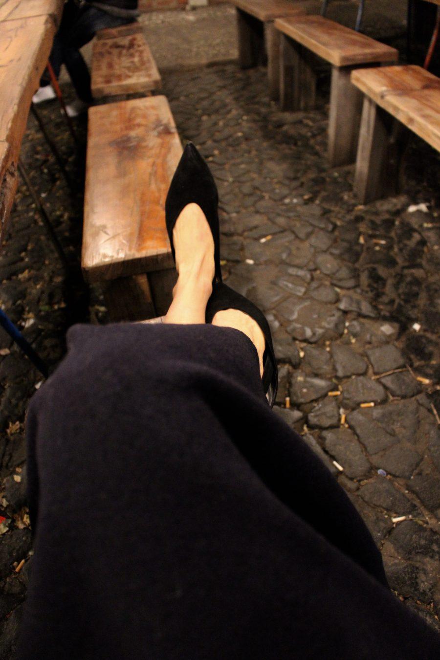 zara slipper black