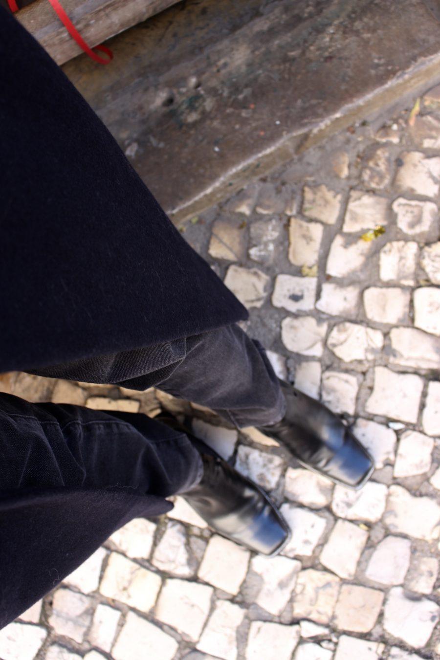 zara black boots like céline