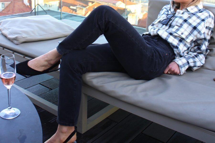 denim jeans H&M vintage look