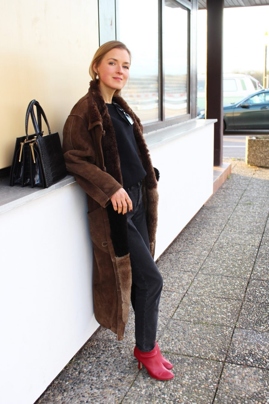 oversized coat brown