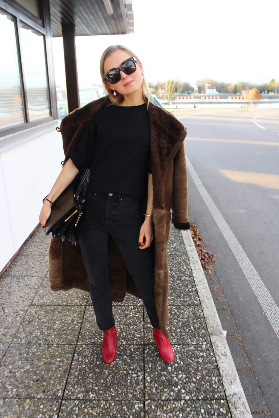 oversized coat brown