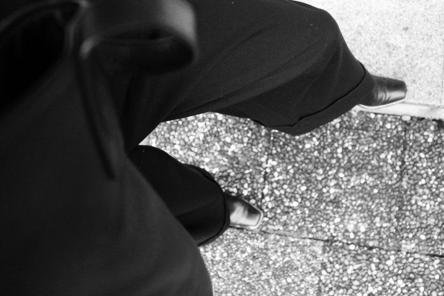 massimo dutti pants black