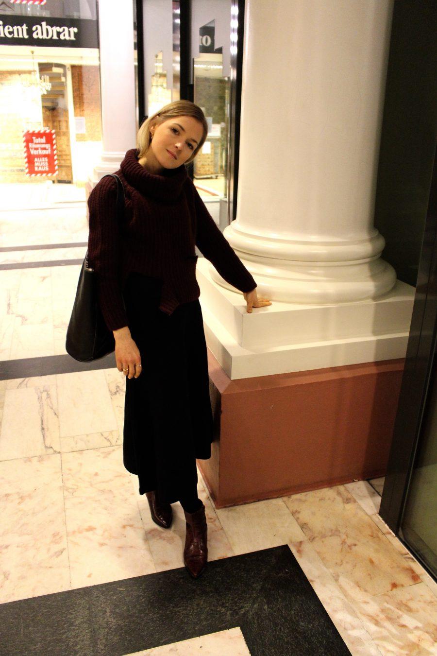 black skirt Massimo Dutti ss 18