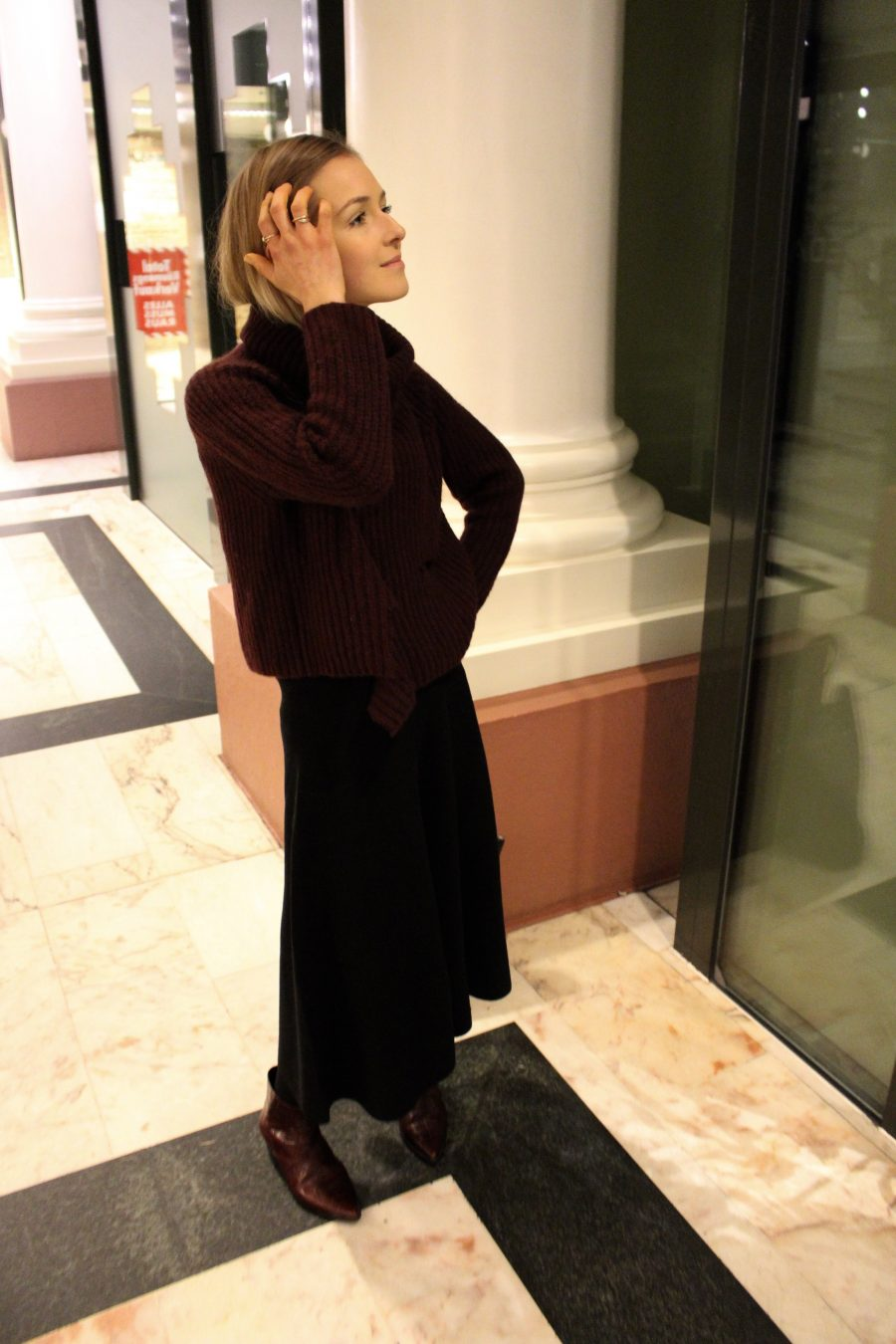 sweater zara burgundy like céline ss 18