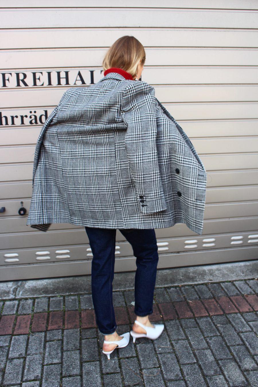 glencheck blazer H&M