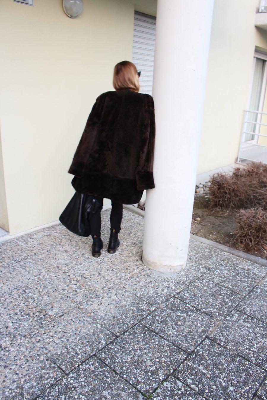 teddy coat fashion blogger
