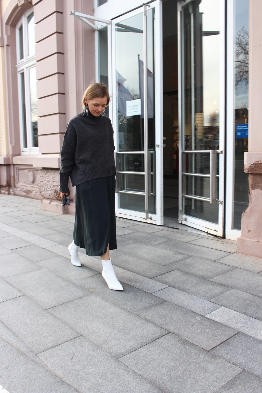 white ankle boots white céline