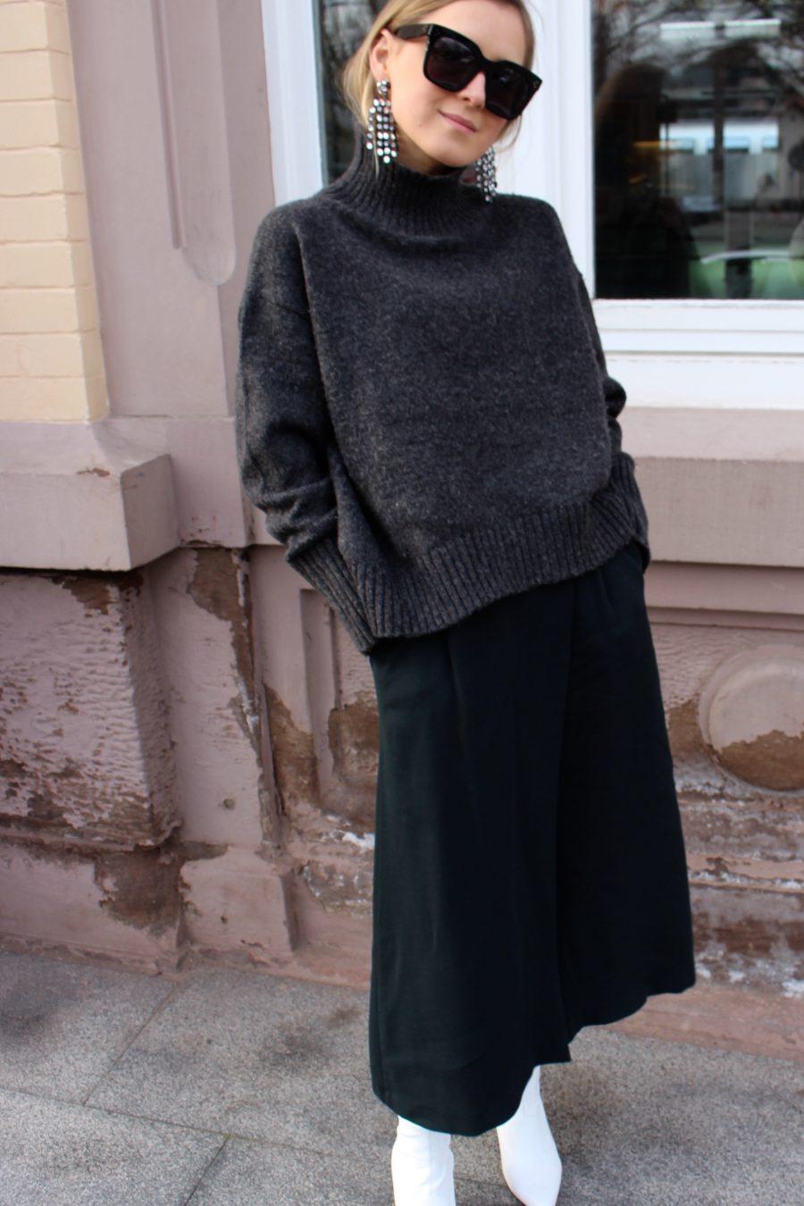 The Green Wrap Skirt Massimo Dutti