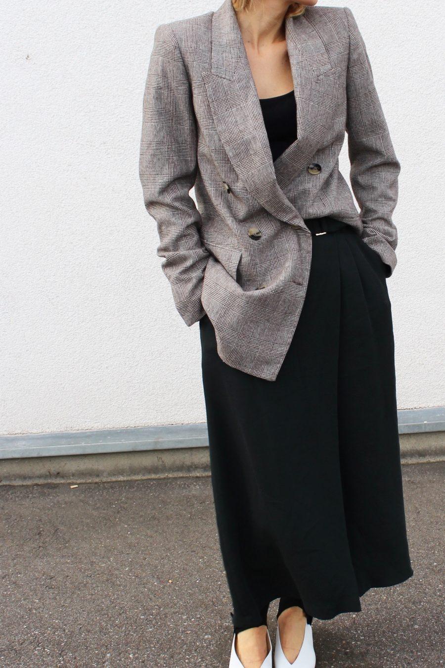 Massimo Dutti green skirt ss18
