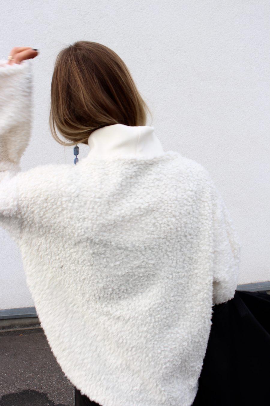 shearling sweater zara