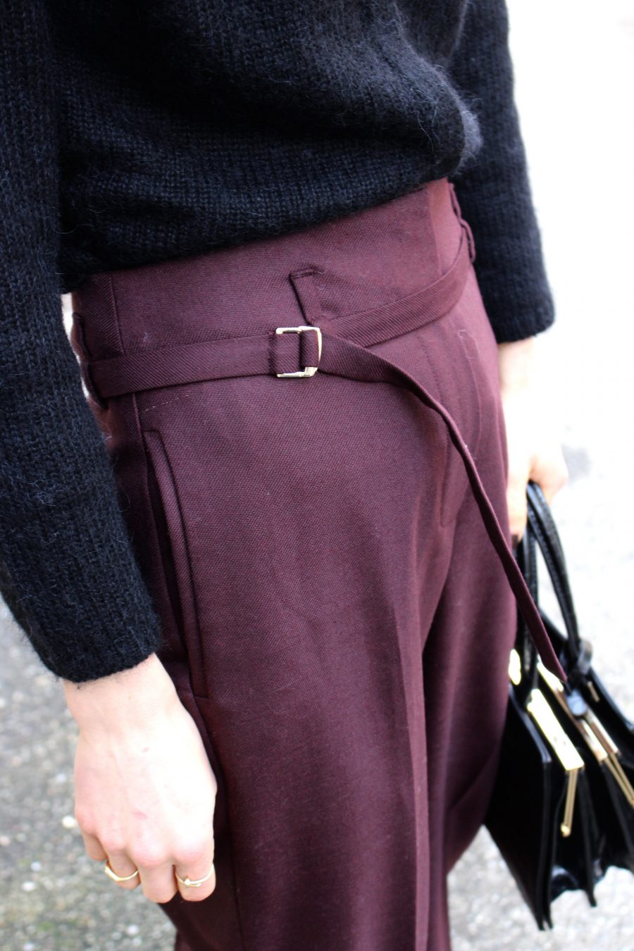 Massimo Dutti pants burgundy