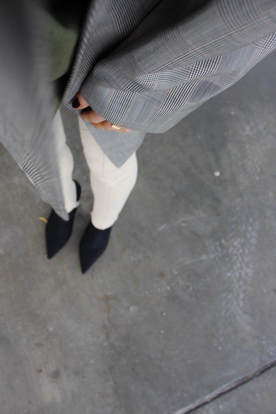 black sock boots mango