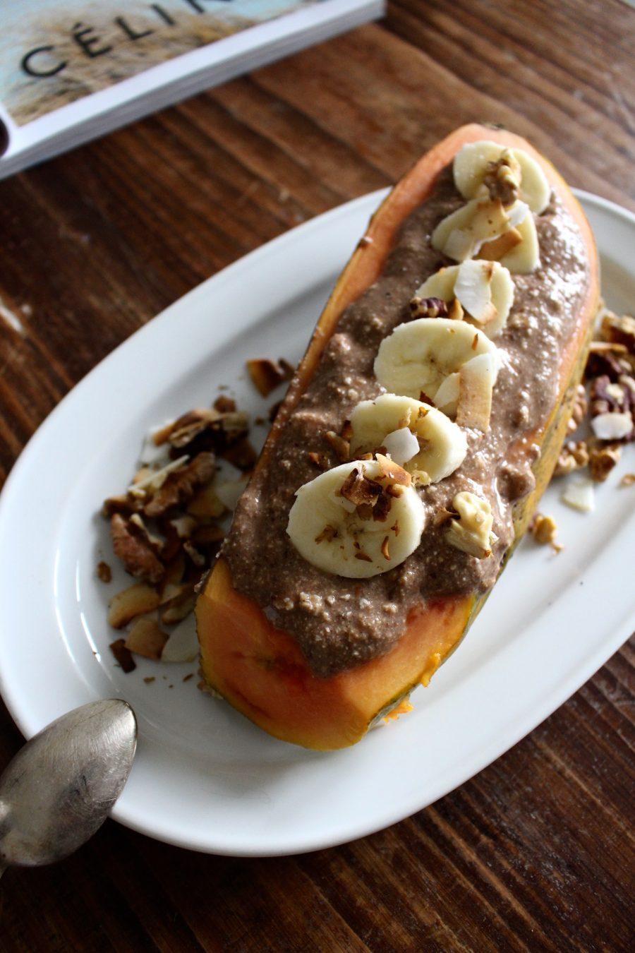 Healthy Papaya Boat