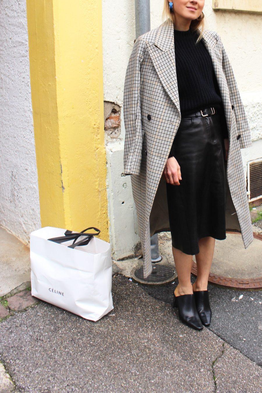leather skirt Céline ss18