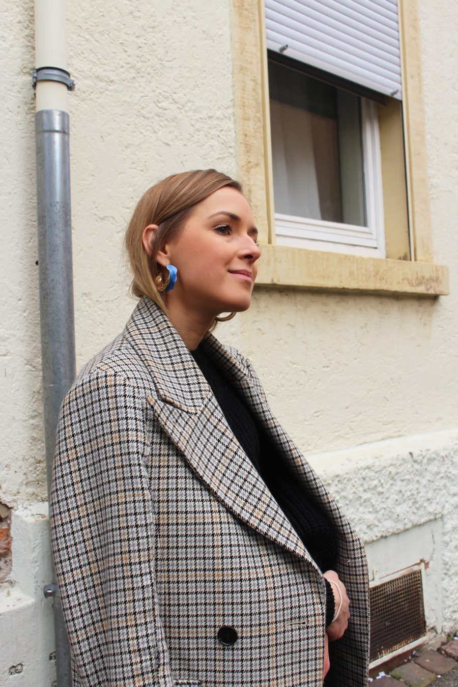 Glencheck coat trend 2018
