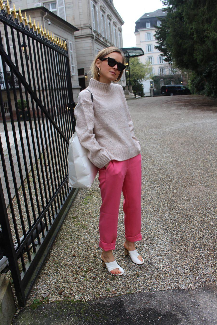 Céline Mules Nappa Pirate style white