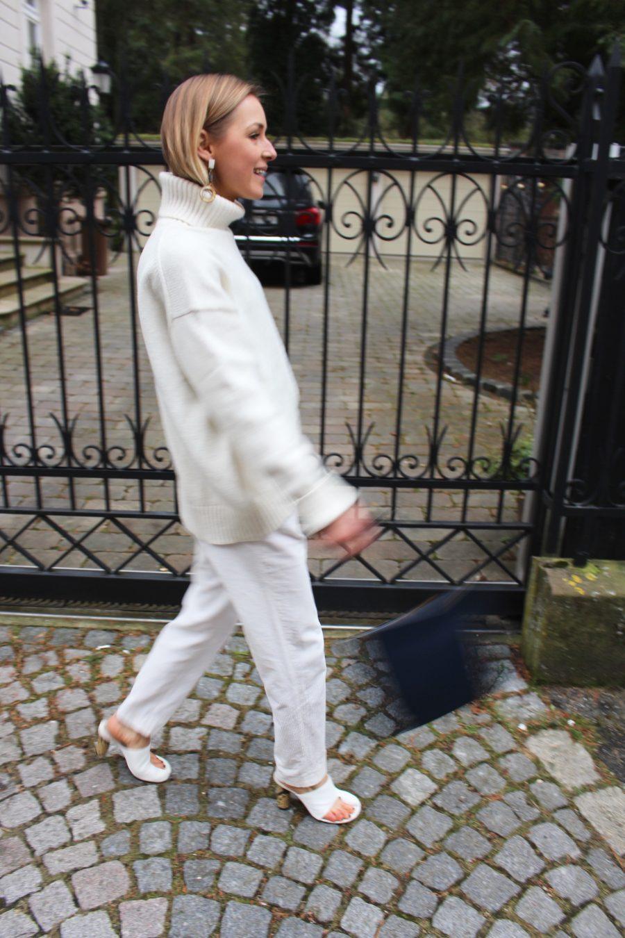 Céline white nappa mules