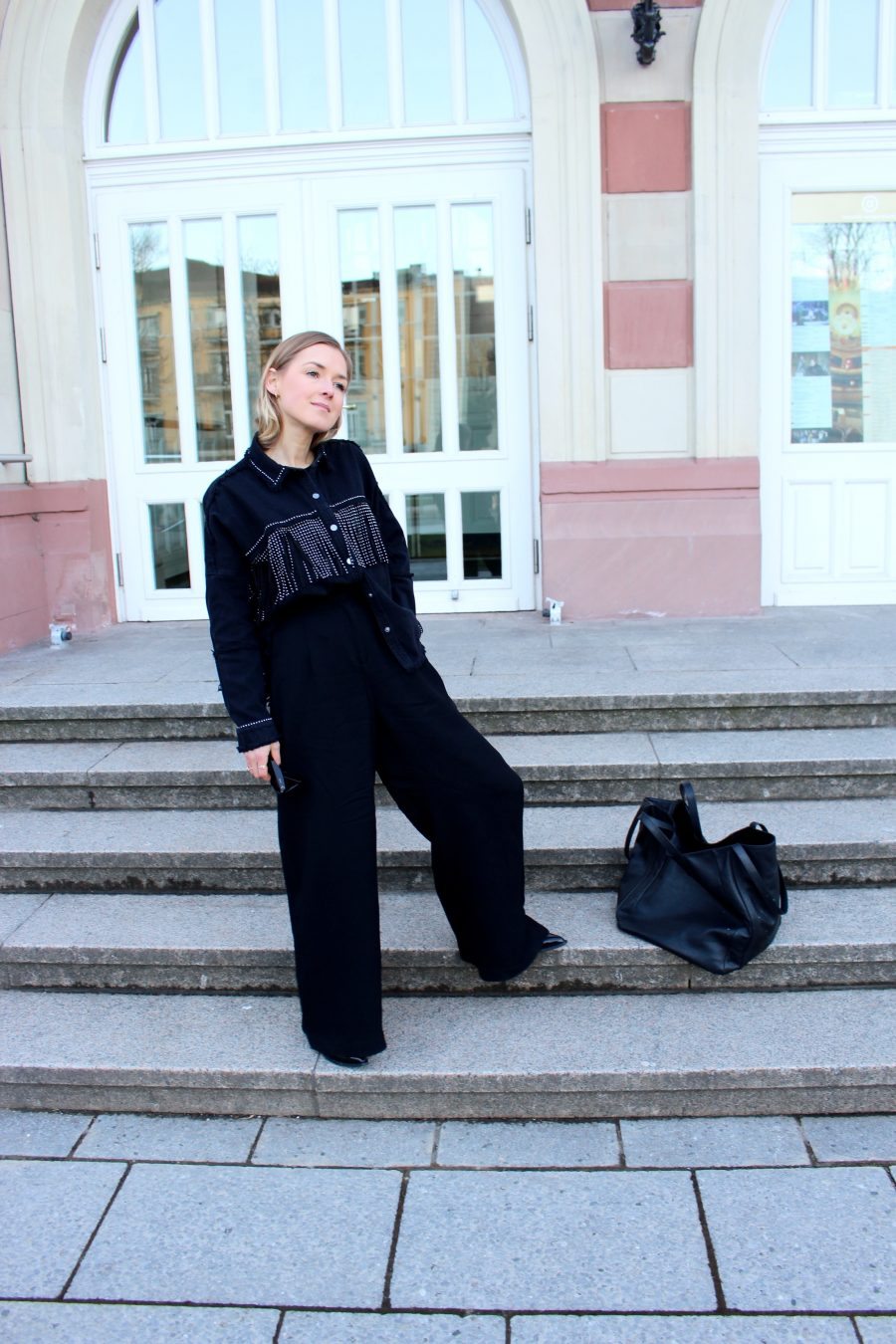 wide pants H&M black
