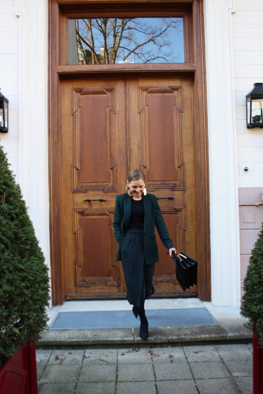Massimo Dutti Skirt green new 2018