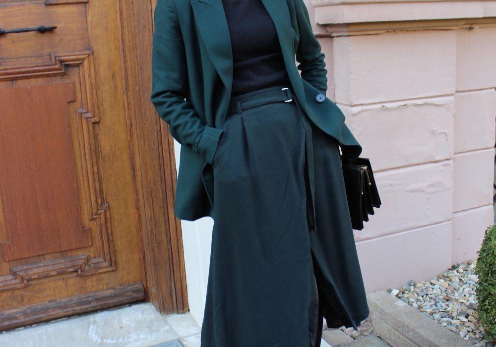 Massimo Dutti Blazer green ss18