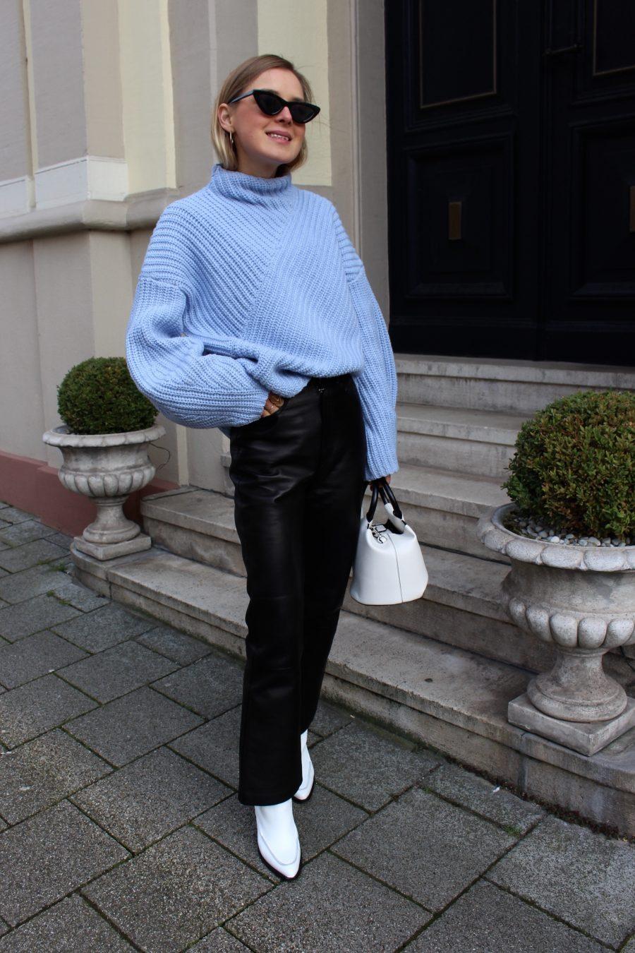 leather pants H&M Trend black