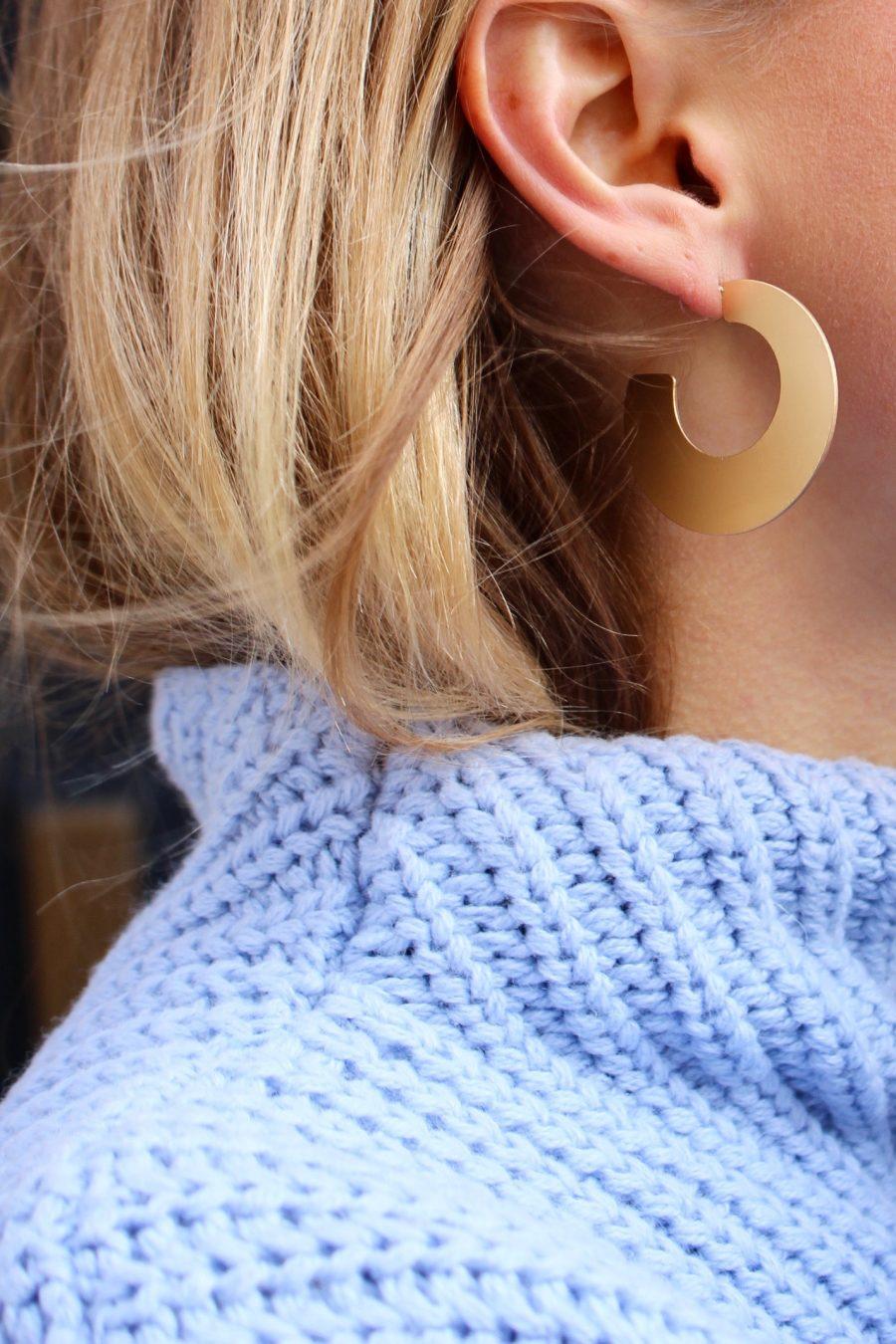 Mango statement earrings